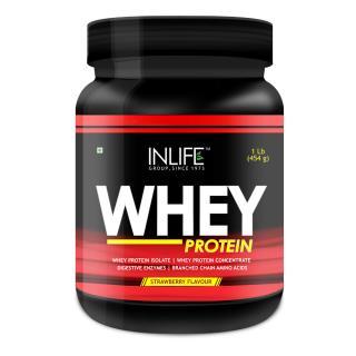 INLIFE Whey Protein Powder 1 lbs(Strawberry Flavour)