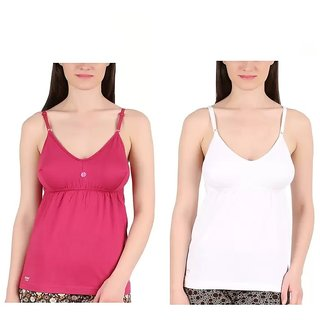GMR Women's bra slip/camisole combo pack of 2