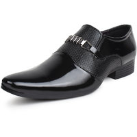 Buwch Formal Black Patent Leather Moccasin Shoe For Men
