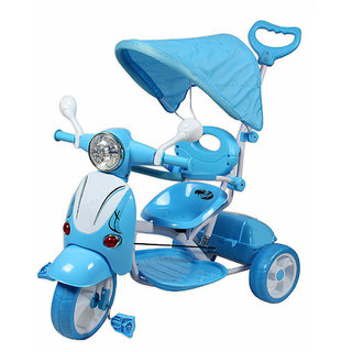 Oh baby  Vespa Trolly Cycle with Canopy and Parent Control (Blue) SE-TC-70