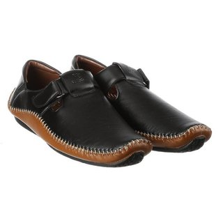 G.T.B Men's Casual Loafer Shoes (BLACK)
