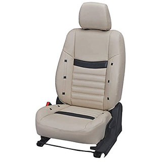Musicar Chevrolet Beat Beige  Leatherite Car Seat Cover with 1 Year Warranty And Steering cover  Free
