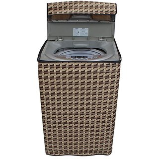 Dream CareAbstract Brown coloured Waterproof & Dustproof Washing Machine Cover For LLOYD Stalwart LWMT80 Fully Automatic Top Load 8 kg washing machine