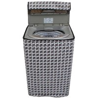 Dream CareAbstract Silver Coloured Waterproof & Dustproof Washing Machine Cover For LG T8068TEEL3 Fully Automatic Top Load 7 kg washing machine