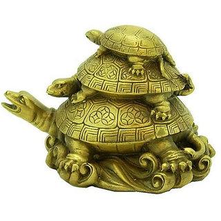 Kesar Zems Vastu Feng Shui Three Tiered Tortoises for Longevity Showpiece - 7.6
