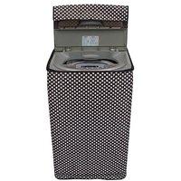 Dream Care polka white and black washing machine cover for semi automatic machine for MIDEA MWMSA065M02 Fully Automatic Top Load 6.5 kg washing machine