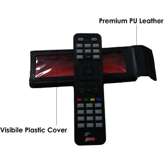 Pack of 2 Protective Case for TV / Dish TV Remote Cover -Premium PU Leather