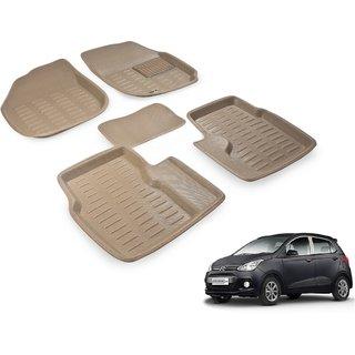 Beige 3D Car Foot Mat For Hyundai Grand i10