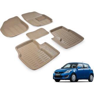 Beige 3D Car Foot Mat For Maruti Swift