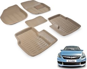Beige 3D Car Foot Mat For Maruti Swift Dezire