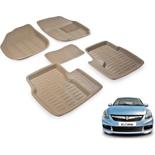 Beige 3D Car Foot Mat For Maruti Swift Dezire