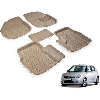 Beige 3D Car Foot Mat For Maruti Swift 2005-2011