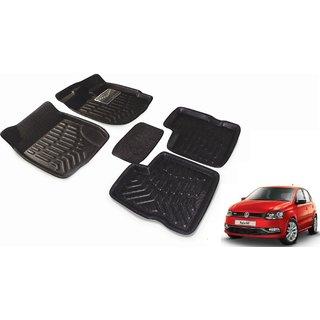 Black 3D Car Foot Mat set for Volkswagen Polo