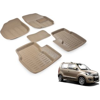 Beige 3D Car Foot Mat For Maruti New Wagon R