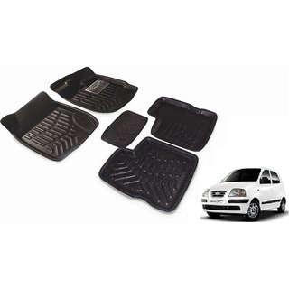 Black 3D Car Foot Mat For Hyundai Santro