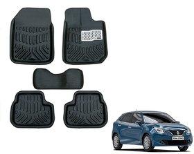 Black 3D Car Foot Mat For Maruti Suzuki Baleno