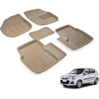 Beige 3D Car Foot Mat For Maruti Alto K10