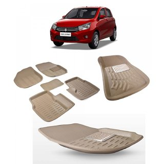 BEIGE 3D CAR FOOT MATS FOR MARUTI CELERIO