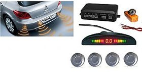 Silver Reverse Parking Sensor Kit For All Cars  - Compatible With All Cars