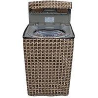 Dream Care Abstract golden washing machine cover for semi automatic machine for MIDEA MWMSA065M02 Fully Automatic Top Load 6.5 kg washing machine