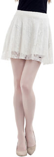 Mansi Collections Cream Solid A-line Skirt For Women