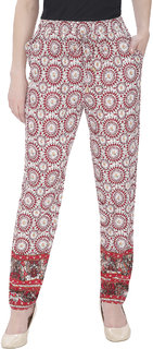 Mansi Collections Multicolor Printed Trouser For Women