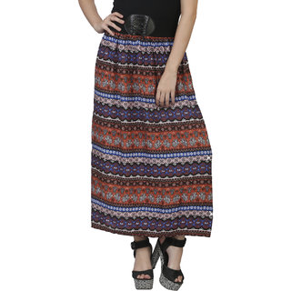 Mansi Collections Multicolor Printed Maxi Skirt Skirt For Women