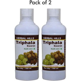 Triphala Juice (amal baheda harde juice blend) 500ml natural juice Rich in minerals- No artificial colour and flavour added - Combo pack