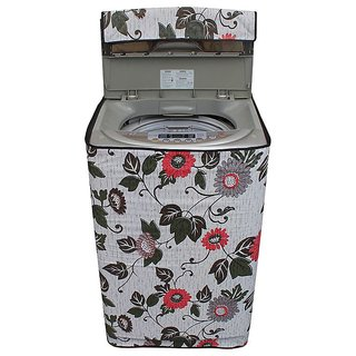 Dream CareFloral And Leafy Multi coloured Waterproof & Dustproof Washing Machine Cover For LLOYD LWMT65TG Fully Automatic Top Load 6.5 kg washing machine