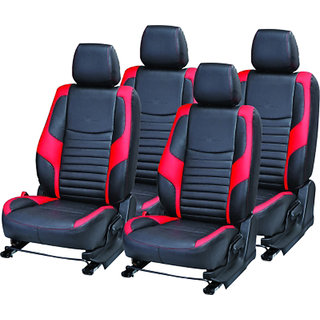 Musicar Hyundai I-10 Black Leatherite Car Seat Cover  with 1 Year Warranty And Steering cover  Free