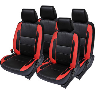 Musicar Honda Amaze Black Leatherite Car Seat Cover with 1 Year Warranty And Steering cover Free