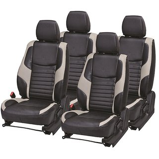Musicar Maruti Wagon R Stingray Black Leatherite Car Seat Cover with 1 Year Warranty And Steering cover  Free