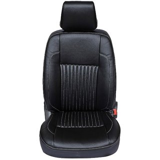 Musicar Maruti  Versa  Black Leatherite Car Seat Cover with 1 Year Warranty And Steering cover  Free