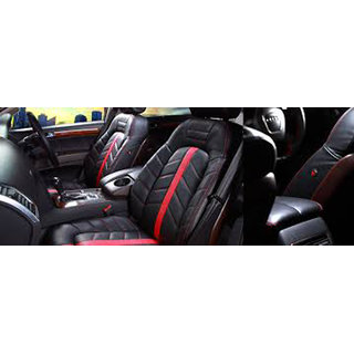 Buy Musicar Hyundai Xcent Black Leatherite Car Seat Cover With 1