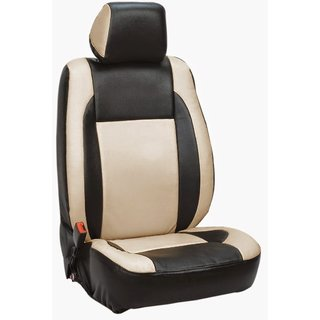 Musicar Chevrolet Beat Black  Leatherite Car Seat Cover with 1 Year Warranty And Steering cover  Free