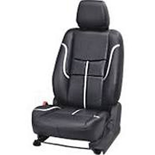 Musicar Tata Nano Black Leatherite Car Seat Cover with 1 Year Warranty And Steering cover  Free