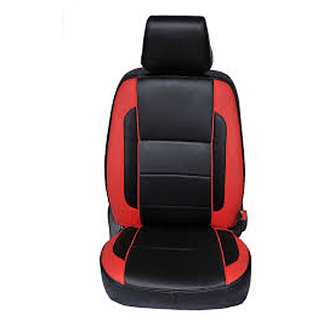 Musicar Toyota Innova Black Leatherite Car Seat Cover with 1 Year Warranty And Steering cover  Free