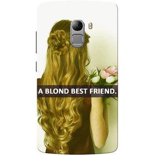 Lenovo K4 Note Case, Blonde Best Friend Slim Fit Hard Case Cover/Back Cover