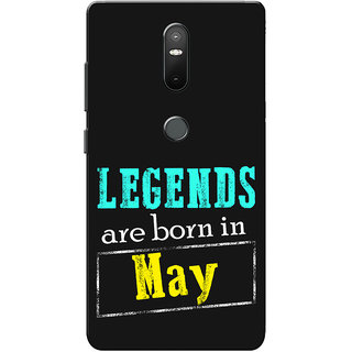 Lenovo Phab 2 Plus Case, Phab2 Plus Case, Legends Are Born In May Slim Fit Hard Case Cover/Back Cover