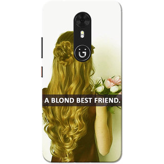 Gionee A1 Case, Blonde Best Friend Slim Fit Hard Case Cover/Back Cover