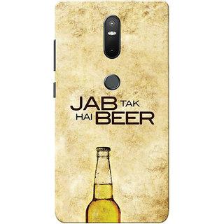 Lenovo Phab 2 Plus Case, Phab2 Plus Case, Jab Tak Hai Beer Yellow Brown Slim Fit Hard Case Cover/Back Cover