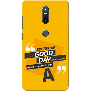 Lenovo Phab 2 Plus Case, Phab2 Plus Case, Name Starts With A Yellow Orange Slim Fit Hard Case Cover/Back Cover
