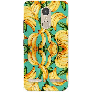 Lenovo K6 Power Case, Banana Pattern Yellow Green Slim Fit Hard Case Cover/Back Cover