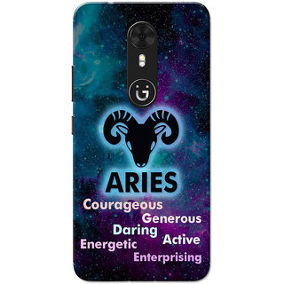 Gionee A1 Case, Zodiac Sign Aries Characteristic Slim Fit Hard Case Cover/Back Cover