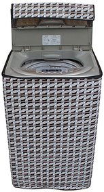Dream CareAbstract Silver Coloured Waterproof & Dustproof Washing Machine Cover LG T7208TDDLP Fully Automatic Top Load 6.5 Kg Model