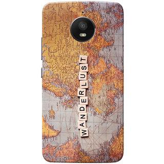 innovative design 376a6 48acf Moto E4 Plus Case, Moto E Plus 4th Gen Case, Wanderlust Slim Fit Hard Case  Cover/Back Cover