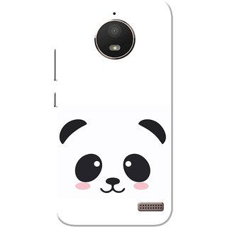 timeless design 83ee0 8de4b Moto E4 Case, Moto E 4th Gen Case, Black Cute Panda White Slim Fit Hard  Case Cover/Back Cover