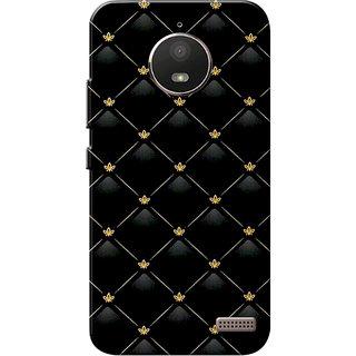 super popular eb6c2 ca3f9 Moto E4 Case, Moto E 4th Gen Case, Pattern Black Slim Fit Hard Case  Cover/Back Cover