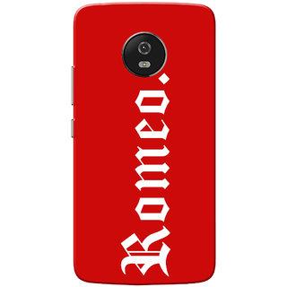 Moto G5 Case, Romeo White Red Slim Fit Hard Case Cover/Back Cover