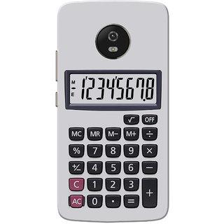 Moto G5 Case, Calculator Grey Black Slim Fit Hard Case Cover/Back Cover